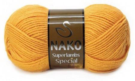 Poze Fir de tricotat sau crosetat - Fire tip mohair din lana 50% si acril 50% Nako Superlambs Special MUSTAR 1380