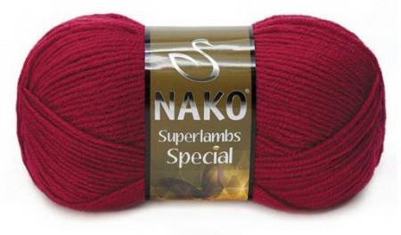 Poze Fir de tricotat sau crosetat - Fire tip mohair din lana 50% si acril 50% Nako Superlambs Special grena 3630