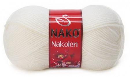 Poze Fir de tricotat sau crosetat - Fire tip mohair din lana 50% si acril 50% Nakolen ALB 208