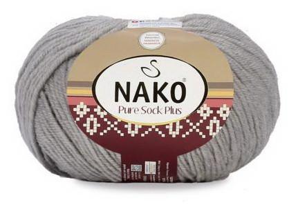 Poze Fir de tricotat sau crosetat - Fire tip mohair din lana si polyamida Nako PURE SOCK PLUS GRI 3298