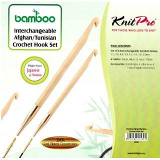 Poze KnitPro BAMBOO - set crosete un singur capat tip TUNISIAN