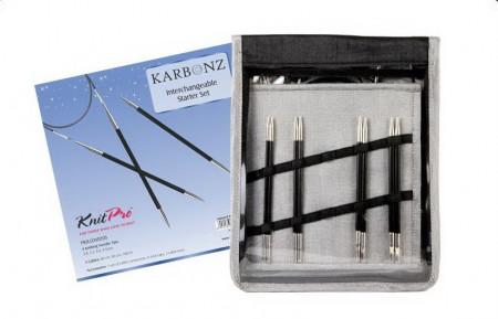 Poze KnitPro Karbonz - set andrele interschimbabile STARTER