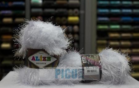 Poze Fir de tricotat sau crosetat - FANCY - ALIZE DECOFUR ALB 55