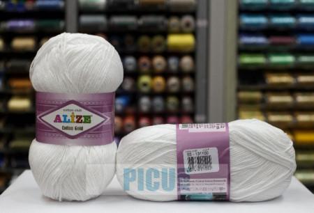 Poze Fir de tricotat sau crosetat - Fir ALIZE COTTON GOLD ALB 55