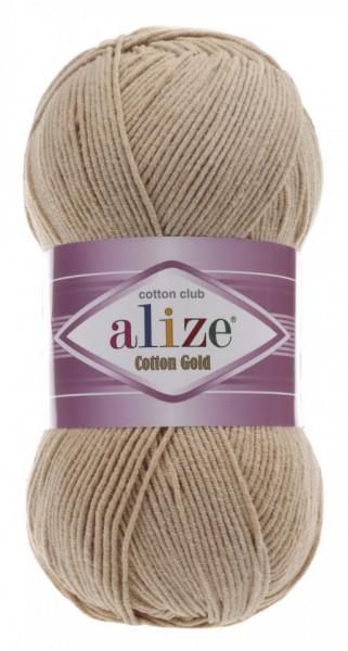 Poze Fir de tricotat sau crosetat - Fir ALIZE COTTON GOLD BEJ 262
