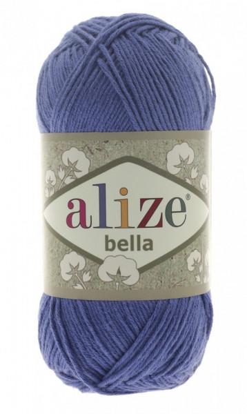 Poze Fir de tricotat sau crosetat - Fir BUMBAC 100% ALIZE BELLA - ALBASTRU 333