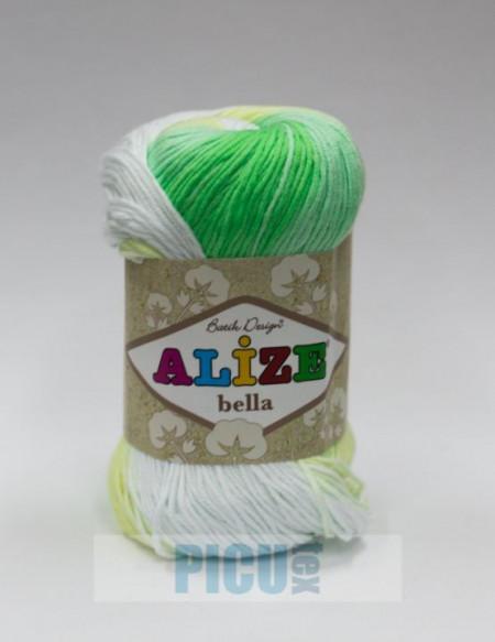 Poze Fir de tricotat sau crosetat - Fir BUMBAC 100% ALIZE BELLA BATIK 2131
