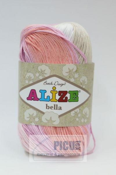 Poze Fir de tricotat sau crosetat - Fir BUMBAC 100% ALIZE BELLA BATIK 2807