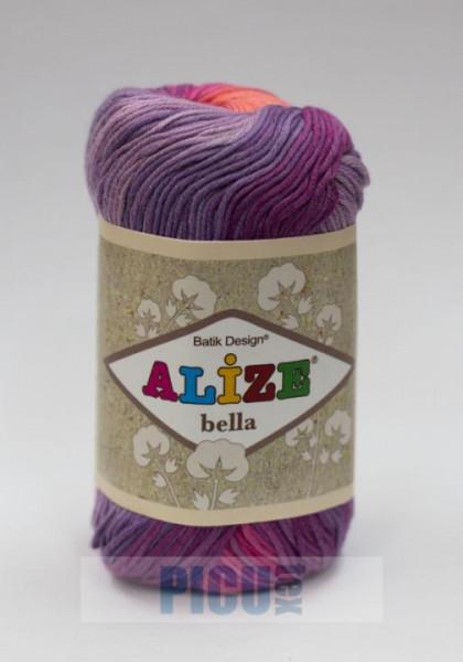 Poze Fir de tricotat sau crosetat - Fir BUMBAC 100% ALIZE BELLA BATIK 4595