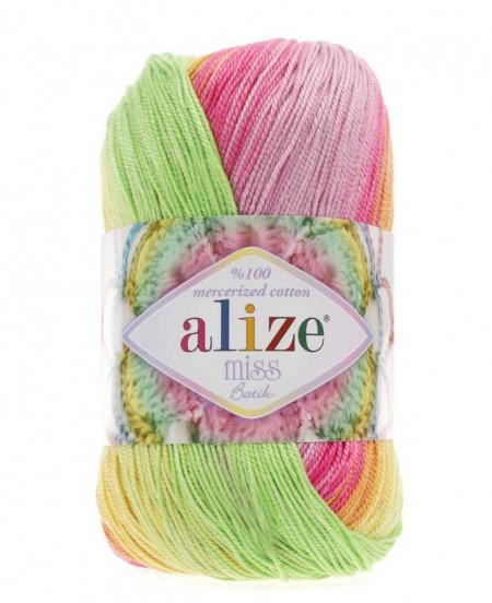 Poze Fir de tricotat sau crosetat - Fir BUMBAC 100% ALIZE MISS BATIK DEGRADE 3715
