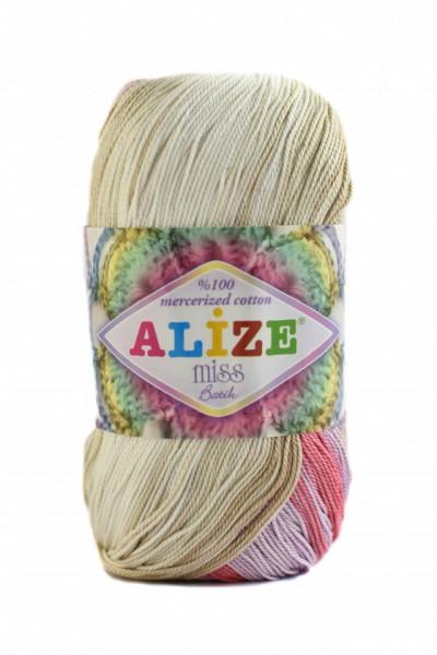 Poze Fir de tricotat sau crosetat - Fir BUMBAC 100% ALIZE MISS BATIK DEGRADE 3712