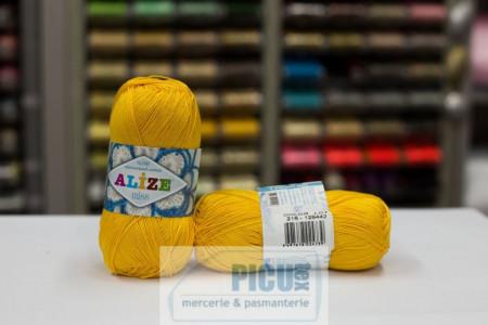 Poze Fir de tricotat sau crosetat - Fir BUMBAC 100% ALIZE MISS GALBEN 216
