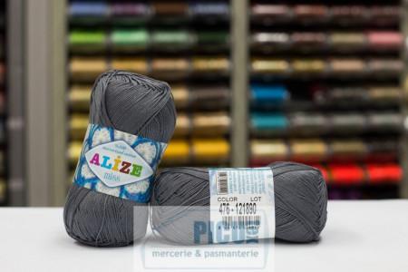 Poze Fir de tricotat sau crosetat - Fir BUMBAC 100% ALIZE MISS GRI 476