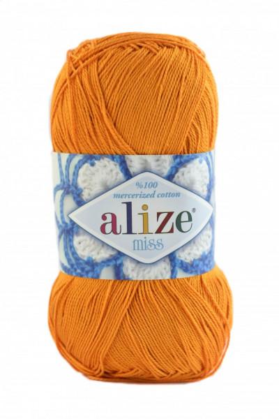 Poze Fir de tricotat sau crosetat - Fir BUMBAC 100% ALIZE MISS PORTOCALIU 83