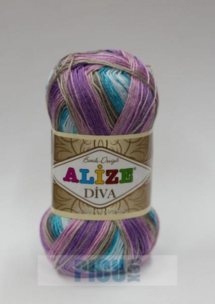 Poze Fir de tricotat sau crosetat - Fir microfibra ALIZE DIVA BATIK DEGRADE 5553