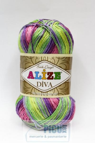 Poze Fir de tricotat sau crosetat - Fir microfibra ALIZE DIVA BATIK DEGRADE 3241