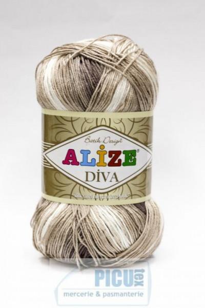 Poze Fir de tricotat sau crosetat - Fir microfibra ALIZE DIVA BATIK DEGRADE 1815