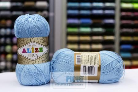 Poze Fir de tricotat sau crosetat - Fir microfibra ALIZE DIVA BLEO 346