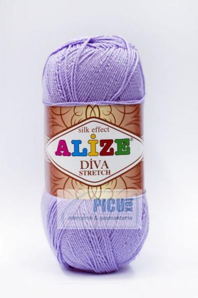 Poze Fir de tricotat sau crosetat - Fir microfibra ALIZE DIVA STRETCH MOV 158