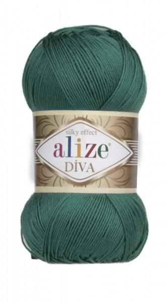 Poze Fir de tricotat sau crosetat - Fir microfibra ALIZE DIVA VERDE 453