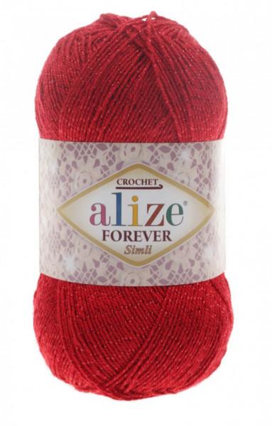 Poze Fir de tricotat sau crosetat - Fir microfibra ALIZE FOREVER SIMLI ROSU 106