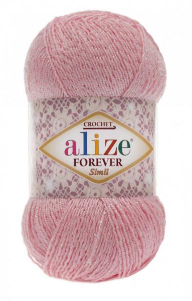 Poze Fir de tricotat sau crosetat - Fir microfibra ALIZE FOREVER SIMLI ROZ 32