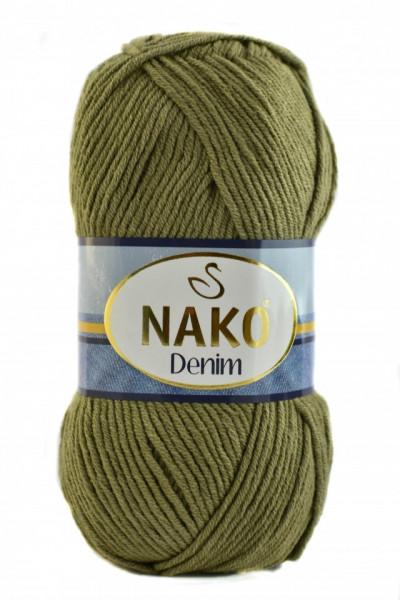 Poze Fir de tricotat sau crosetat - FIR NAKO DENIM VERDE OLIV COD 11191