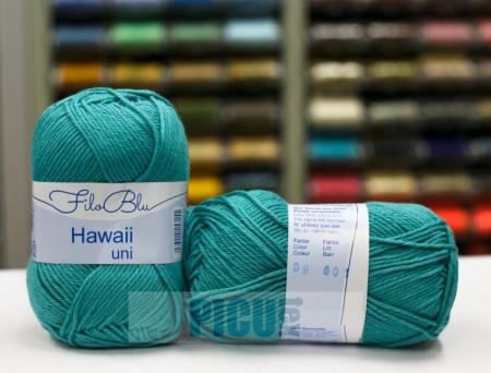 Poze Fir de tricotat sau crosetat - Fire amestec Bumbac 100% GRUNDL HAWAII UNI - TURQUAZ - 09