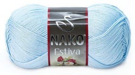 Poze Fir de tricotat sau crosetat - Fire amestec Bumbac + Bambus NAKO ESTIVA BLEO 6952