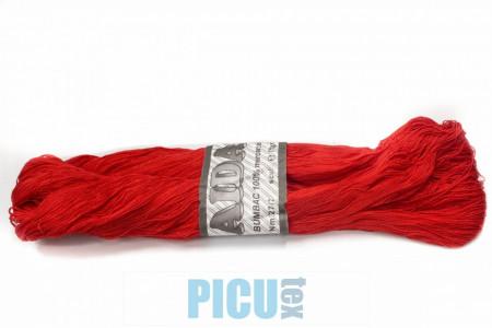 Poze Fir de tricotat sau crosetat - Fire Bumbac 100% mercerizat AIDA ROMANOFIR SCUL ROSU 1332
