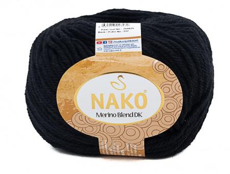 Poze Fir de tricotat sau crosetat - Fire din lana 100% Nako Merino Blend DK - NEGRU COD 217
