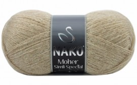 Poze Fir de tricotat sau crosetat - Fire tip mohair acril NAKO MOHER SIMLI SPECIAL BEJ 23116SE