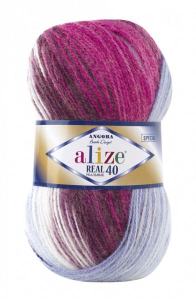 Poze Fir de tricotat sau crosetat - Fire tip mohair din acril Alize Angora Real 40 Batik degrade 7097