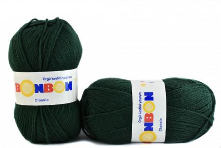 Poze Fir de tricotat sau crosetat - Fire tip mohair din acril BONBON CLASIC VERDE 98321