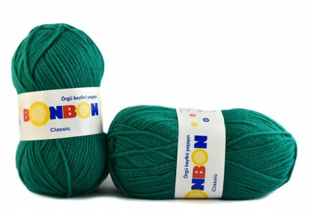 Poze Fir de tricotat sau crosetat - Fire tip mohair din acril BONBON CLASIC VERDE 98325