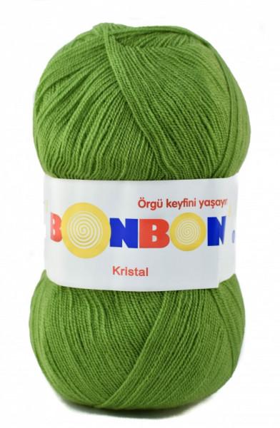Poze Fir de tricotat sau crosetat - Fire tip mohair din acril BONBON KRISTAL VERDE 98204