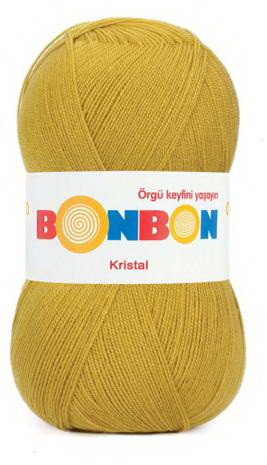 Poze Fir de tricotat sau crosetat - Fire tip mohair din acril BONBON KRISTAL Galben 98873