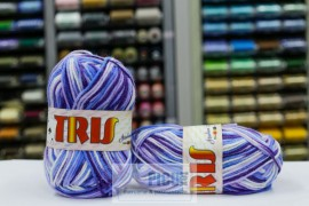 Poze Fir de tricotat sau crosetat - Fire tip mohair din acril CANGURO - TRIS IMPRIMAT DEGRADE 352