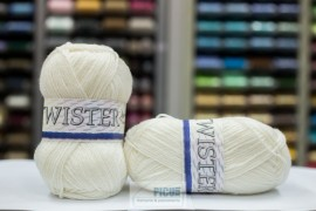 Poze Fir de tricotat sau crosetat - Fire tip mohair din acril CANGURO - TWISTER CREAM - 302
