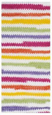 Poze Fir de tricotat sau crosetat - Fire tip mohair din acril degrade Nako Lolipop mix 80432