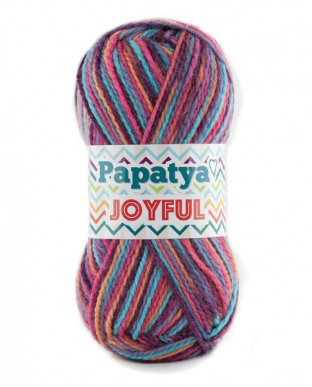 Poze Fir de tricotat sau crosetat - Fire tip mohair din acril Kamgarn Papatya Joyful degrade 07