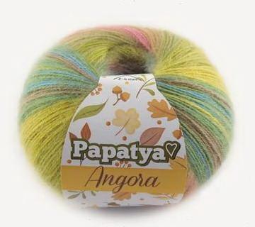 Poze Fir de tricotat sau crosetat - Fire tip mohair din acril Kamgarn Papatya Angora degrade 61