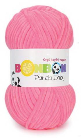 Poze Fir de tricotat sau crosetat - Fire tip mohair din acril NAKO BONBON PANDA BABY ROZ 3107