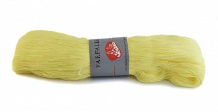 Poze Fir de tricotat sau crosetat - Fire tip mohair din acril (PNA) Canguro Farfalle GALBEN 311