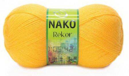 Poze Fir de tricotat sau crosetat - Fire tip mohair din acril premium Nako REKOR GALBEN 184