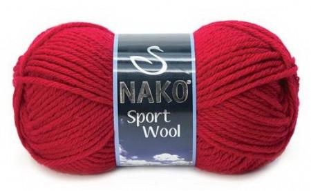 Poze Fir de tricotat sau crosetat - Fire tip mohair din acril si lana Nako Sport Wool rosu 3641