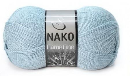 Poze Fir de tricotat sau crosetat - Fire tip mohair din acril si poliester metalic NAKO LAME FINE ALBASTRU 10471UM