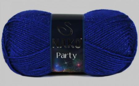 Poze Fir de tricotat sau crosetat - Fire tip mohair din acril si poliester metalic NAKO PARTY ALBASTRU 3265P