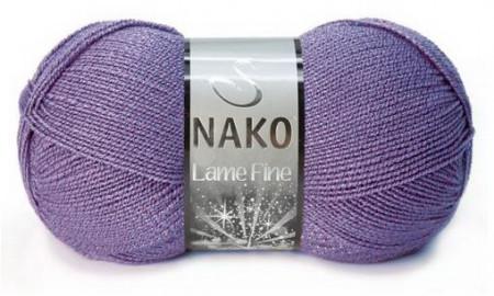 Poze Fir de tricotat sau crosetat - Fire tip mohair din acril si poliester metalic NAKO LAME FINE MOV 187M