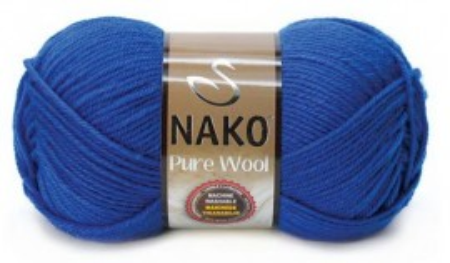 Poze Fir de tricotat sau crosetat - Fire tip mohair din lana 100% Nako PURE WOOL ALBASTRU 5329